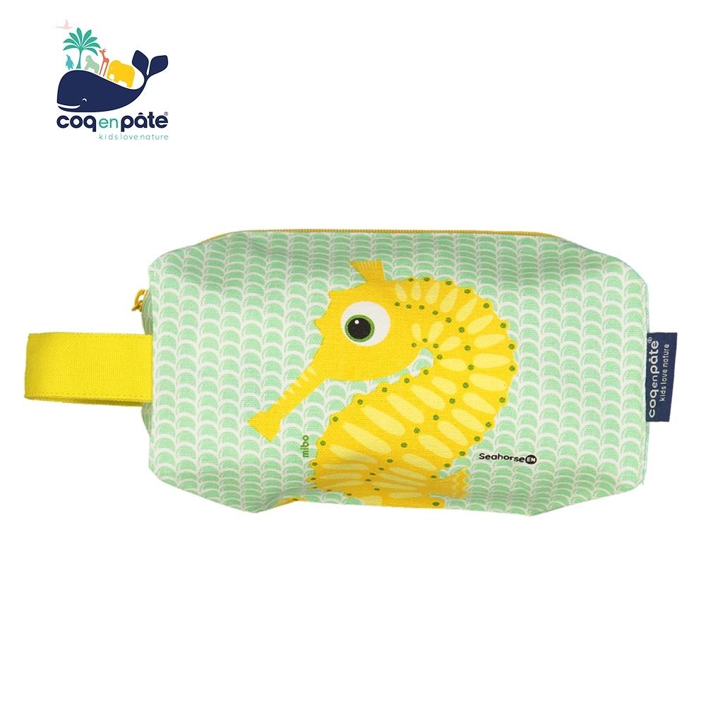 COQENPATE 法國有機棉無毒環保布包 -  方方立體袋 -海馬