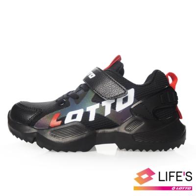 LOTTO 義大利 童 EASY RIDE 輕量跑鞋 (黑)