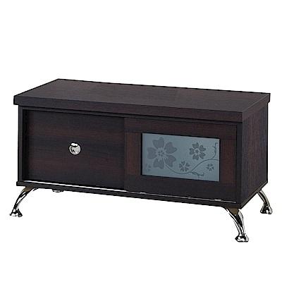 綠活居 比德2.7尺推門單抽電視櫃/視聽櫃(二色可選)-82x43x44cm-免組