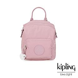 Kipling 亞洲限定款夢幻櫻花粉多功能手提後背包-NALEB