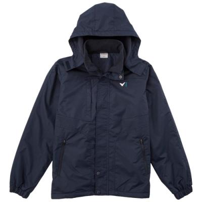 【V.TEAM】男款連帽功能性厚外套-藍
