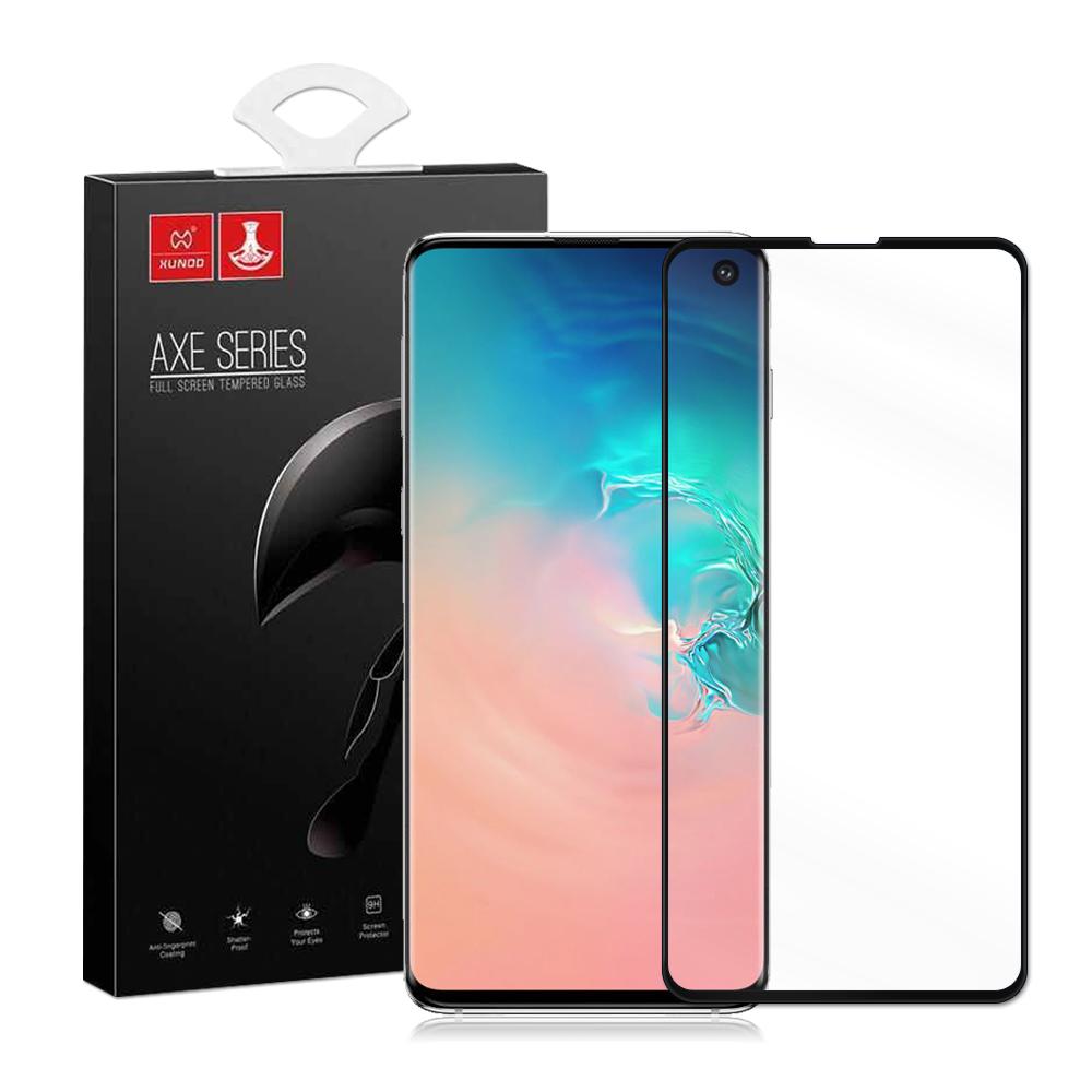 全膠貼合 XUNDD Samsung Galaxy S10 3D滿版玻璃纖維保護貼(黑)