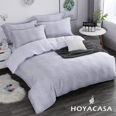 HOYACASA德里小城 特大四件式抗菌60支天絲兩用被床包組