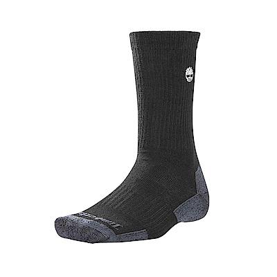 Timberland 男款黑色中筒襪 A1ECT001