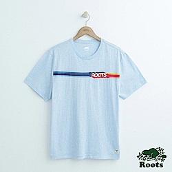 男裝Roots 波登短袖T恤-藍
