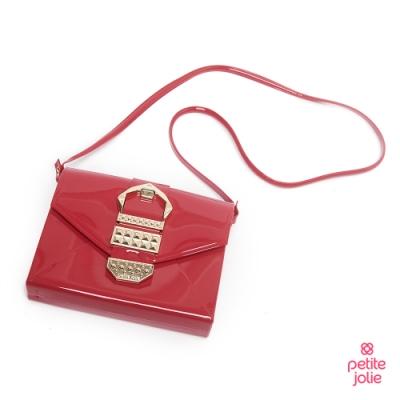 Petite Jolie--復古金屬扣飾果凍信封包-紅色