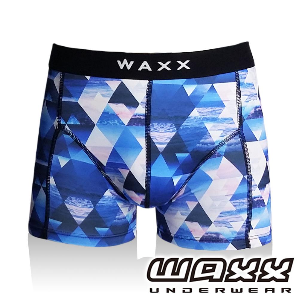 WAXX熱浪系列-幻鏡空間運動快乾型男四角褲