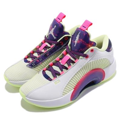 Nike 籃球鞋 Air Jordan XXXV 運動 男鞋 明星款 喬丹 避震 包覆 支撐 球鞋 白 紫 DJ9805190