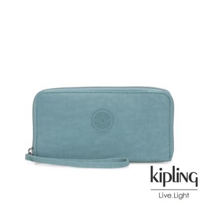 Kipling 冰霜綠多層收納拉鍊長夾-IMALI