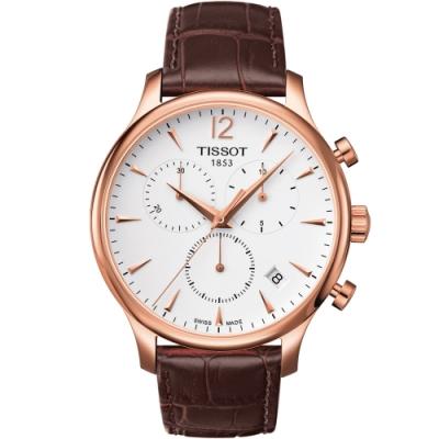 TISSOT 天梭 Tradition系列永恆時尚計時腕錶(T0636173603700)42mm