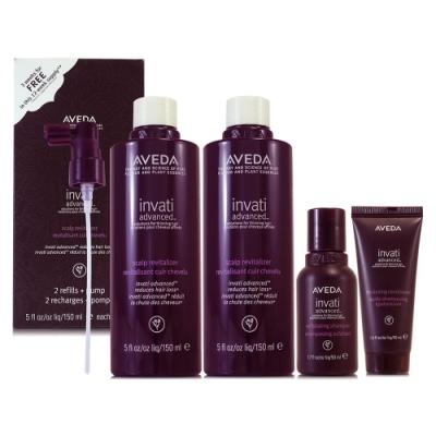 AVEDA 蘊活菁華滋養液150ml*2(環保包) 蘊活菁華洗髮乳50ml 潤髮乳40ml