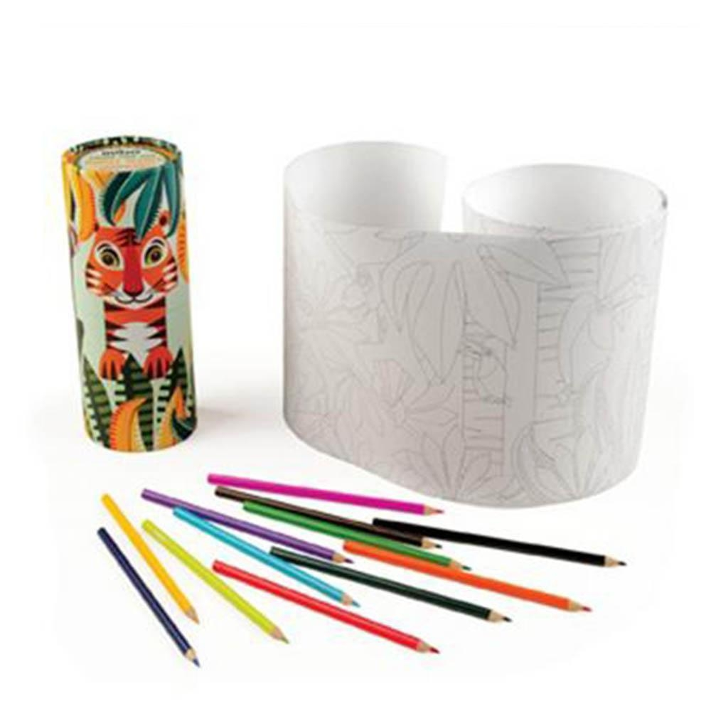 Mibo Jungle Colouring Set 紙筒繪圖組