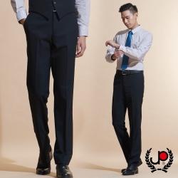 極品西服 品味暗紋緹花毛料平面西褲_黑色(BW601-1)