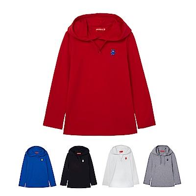 WHY AND 1/2 連帽棉質萊卡T恤 11Y~12Y 多色可選