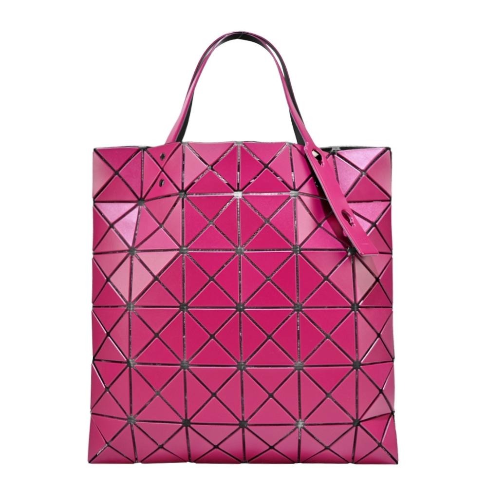 ISSEY MIYAKE 三宅一生 BAOBAO  6x6霧面手提包-紫紅