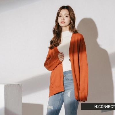 H:CONNECT 韓國品牌 女裝 - 細節特色針織外套  - 橘