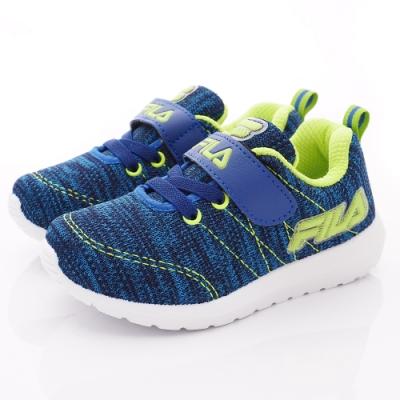 FILA頂級童鞋 針織輕量運動款 EI29T-339藍綠