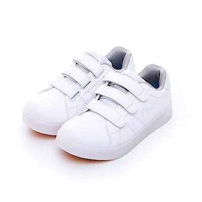 FILA KIDS 大童TPR電燈板鞋-白 3-C409T-111