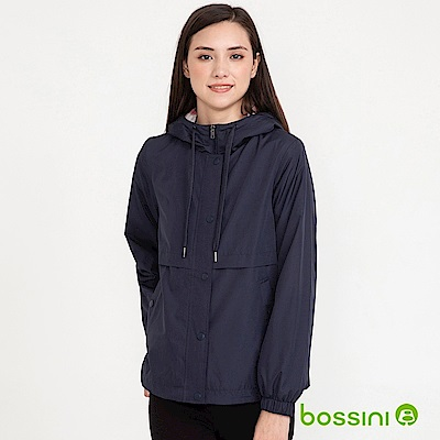 bossini女裝-連帽刷毛外套01海軍藍