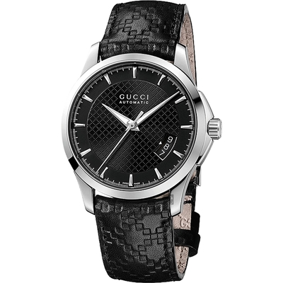 GUCCI G-Timeless 經典皮革機械手錶(YA126413)