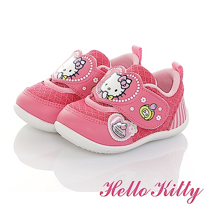 HelloKitty 草莓蛋糕系列 透氣輕量抗菌防臭休閒學步童鞋-桃