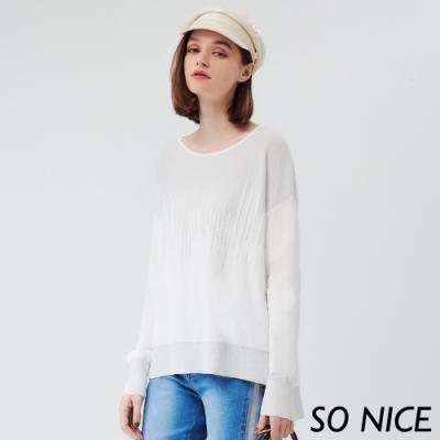 SO NICE簡約不規則亮蔥針織上衣