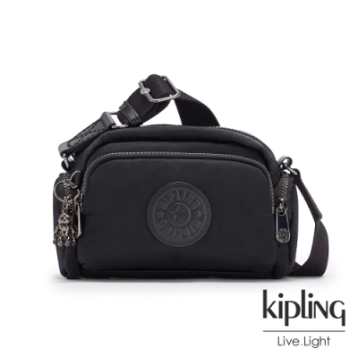 Kipling 極致低調黑好收納隨身斜背包-JENERA MINI