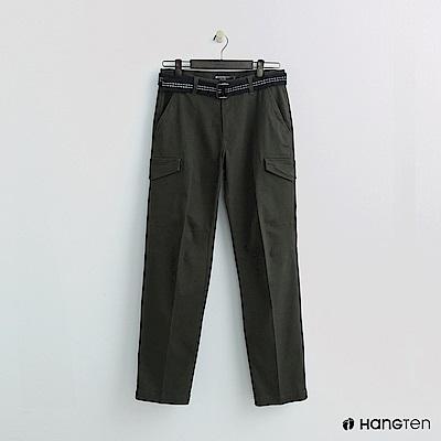 Hang Ten - 男裝 - 腰帶造型口袋休閒褲 - 綠