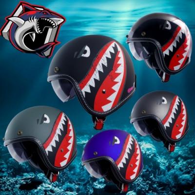 【GP-5】霸氣鯊魚 復古安全帽│機車│內襯│鏡片│半罩│輕量化│內藏墨鏡