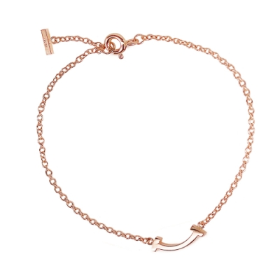 Tiffany&Co. 18K玫瑰金 Smile微笑手鍊
