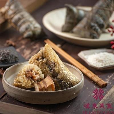 漢來飯店 大禮包粽(台式一品粽200g*2顆+松露富貴粽180g*2顆+桂花紅豆粽_素180g*2顆)