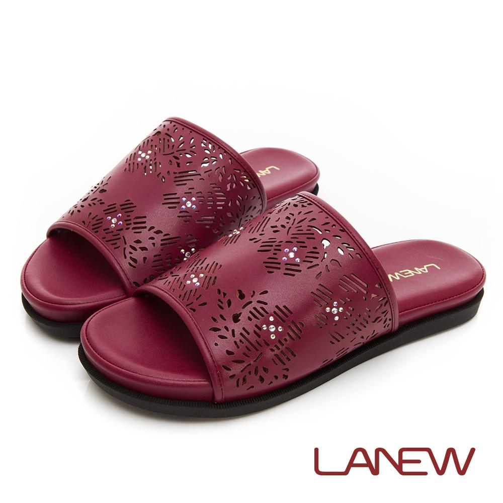 LA NEW SO Lite 彈力減壓 雕花平底拖鞋(女225083870)