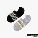 H:CONNECT 韓國品牌 女襪 - 彩色線條短襪組-黑