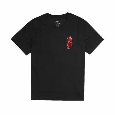 Nike T恤 Dri-FIT Kyrie Logo T 男款 Irving 厄文 吸濕排汗 寬鬆隨興 黑 紅 DJ1567-010