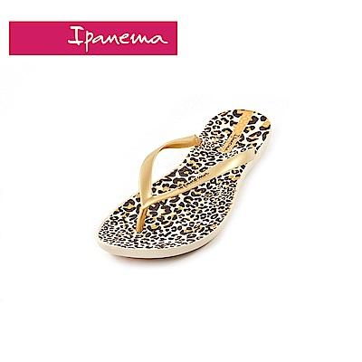 IPANEMA WAVE系列 豹紋點點 夾腳拖(女款)-金色