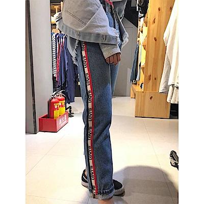Levis 女款 牛仔褲 501中腰直筒 Sneaker Jeans