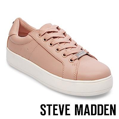 STEVE MADDEN-BERTIE 厚底綁帶休閒鞋-粉紅
