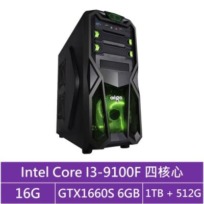 華碩B365平台[獸神劍士]i3四核GTX1660S獨顯電玩機