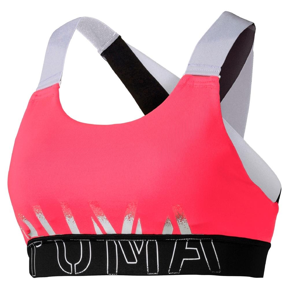 PUMA-女性訓練系列Feel It中衝擊運動內衣-警示粉-歐規