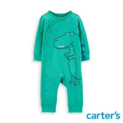 【Carter s】 抱抱恐龍綠色長袖連身裝(6M-9M) 任選 (台灣總代理)