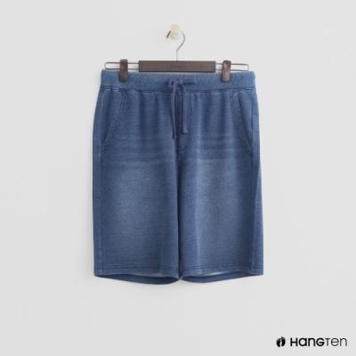 Hang Ten - 男裝 - 鬆緊綁帶設計休閒短褲-藍