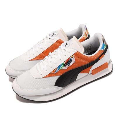Puma 休閒鞋 Future Rider 男女鞋 緩震 網布 皮革 情侶鞋穿搭 白 橘 37597101