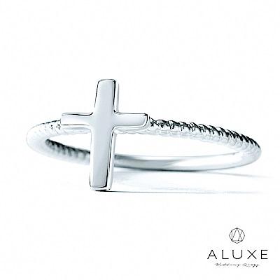 A-LUXE 亞立詩 14K金十字架線戒
