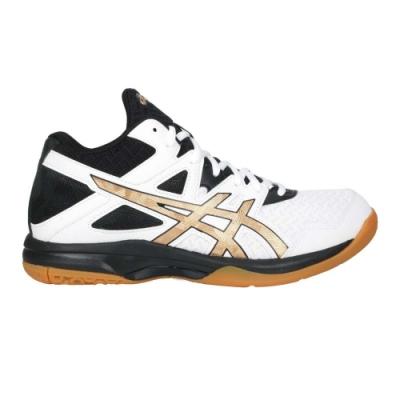 ASICS GEL-TASK MT 2 男排羽球鞋-中筒 運動 亞瑟士 1071A036-102 白黑金