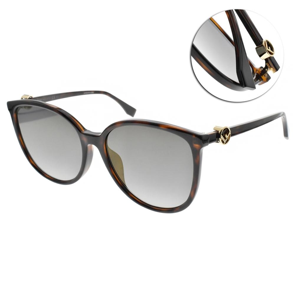 FENDI水銀太陽眼鏡 優雅唯美百搭款/琥珀棕-淺黃水銀灰 #FF0310FS 086FQ