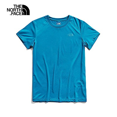 The North Face北面男款藍色吸濕排汗短袖T恤|3CGZ8EE