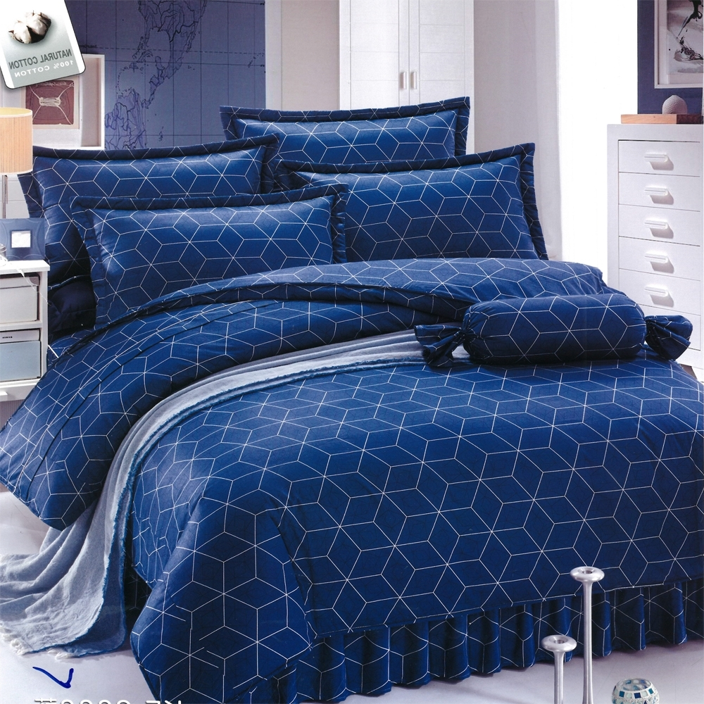 Carolan 藍海  雙人五件式純棉床罩組(台灣製)