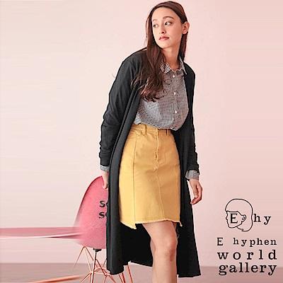 E hyphen 針織羅紋長版罩衫