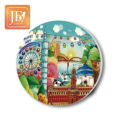 JB Design陶瓷吸水杯墊107_台北天空