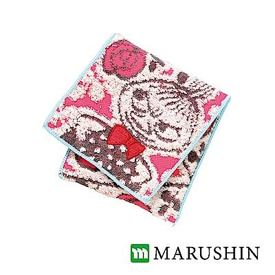 日本丸真 Moomin方型毛巾布收納袋-小不點在太陽雨下
